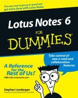 Cover image for Lotus notes 6 for dummies