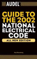 Cover image for Audel guide to the 2002 National Electrical Code : all new edition