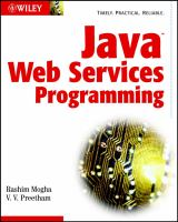Cover image for Java web services programming