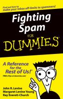 Cover image for Fighting spam for dummies