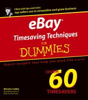 Cover image for eBay timesaving techniques for dummies