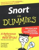 Cover image for Snort for dummies