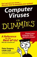 Cover image for Computer viruses for dummies