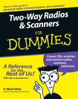 Cover image for Two-way radios & scanners for dummies