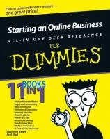 Cover image for Starting an online business all-in-one desk reference for dummies