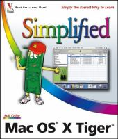 Cover image for Mac OS X Tiger simplified