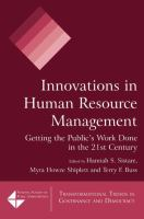 Cover image for Innovations in human resource management : getting the public's work done in the 21st century