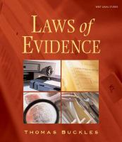 Cover image for Laws of evidence