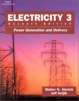 Cover image for Electricity 3 :  power generation and delivery