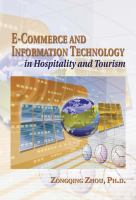 Cover image for E-Commerce and information technology in hospitality and tourism