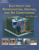 Cover image for Electricity for refrigeration, heating and air conditioning
