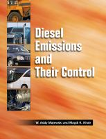Cover image for Diesel emissions and their control