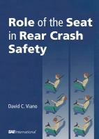 Cover image for Role of the seat in rear crash safety