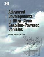 Cover image for Advanced developments in ultra-clean gasoline-powered vehicles