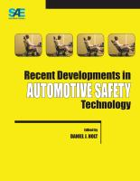 Cover image for Recent developments in automotive safety technology