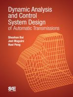 Cover image for Dynamic analysis and control system design of automatic transmissions