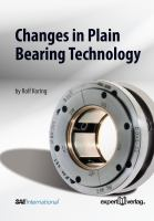 Cover image for Changes in plain bearing technology