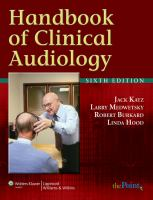 Cover image for Handbook of clinical audiology