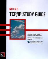 Cover image for MCSE : TCP/IP study guide