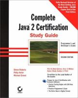 Cover image for Complete java 2 certification study guide
