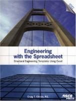 Cover image for Engineering with the spreadsheet : structural engineering templates using Excel