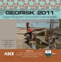 Cover image for GeoRisk 2011  geotechnical risk assessment and management