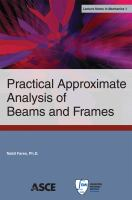 Cover image for Practical approximate analysis of beams and frames