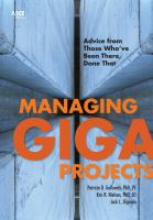 Cover image for Managing gigaprojects : advice from those who've been there, done that
