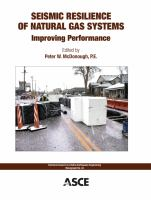 Cover image for Seismic resilience of natural gas systems : improving performance