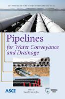 Cover image for Pipelines for water conveyance and drainage