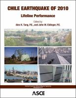 Cover image for Chile earthquake of 2010 lifeline performance