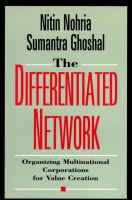 Cover image for The differentiated network : organizing multinational corporations for value creation