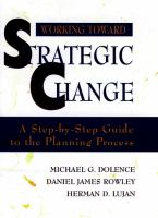 Cover image for Working toward strategic change : a step-by-step guide to the planning process