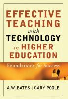 Cover image for Effective teaching with technology in higher education : foundations for success