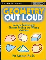 Cover image for Geometry out loud : learning mathematics through reading and writing activities