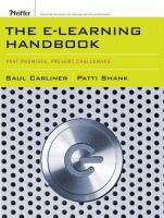 Cover image for The e-learning handbook : past promises, present challenges