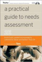 Cover image for A practical guide to needs assessment