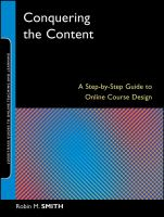 Cover image for Conquering the content : a step-by-step guide to online course design