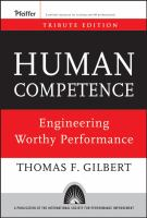 Cover image for Human competence : engineering worthy performance