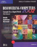 Cover image for Discovering computers 2002 : concepts for a digital world : web enhanced : web enhanced complete