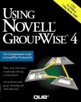 Cover image for Using Novell GroupWise 4