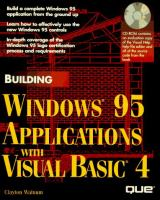 Cover image for Building Windows 95 applications with Visual Basic 4