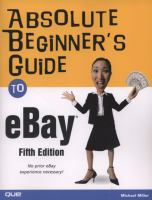 Cover image for Absolute beginner's guide to eBay