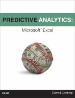 Cover image for Predictive analytics : Microsoft Excel