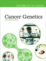 Cover image for Cancer genetics