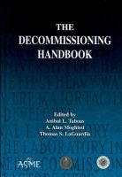 Cover image for The decommissioning handbook