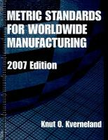 Cover image for Metric standards for worldwide manufacturing