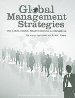 Cover image for Global management strategies : sales, design, manufacturing and operations