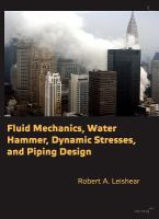 Cover image for Fluid mechanics, water hammer, dynamic stresses, and piping design