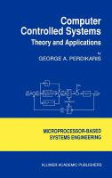Cover image for Computer controlled systems : theory and applications
